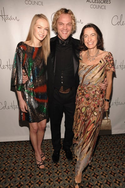 Siri Tollerod in Pucci, Peter Dundas, and Laudomia Pucci in Pucci.