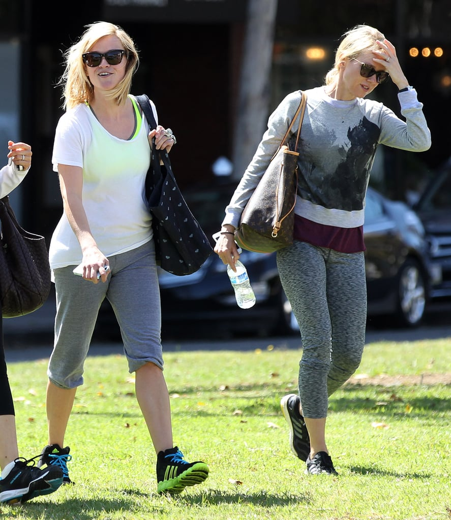 Naomi Watts and Reese Witherspoon hit up a yoga studio together in LA on Wednesday.