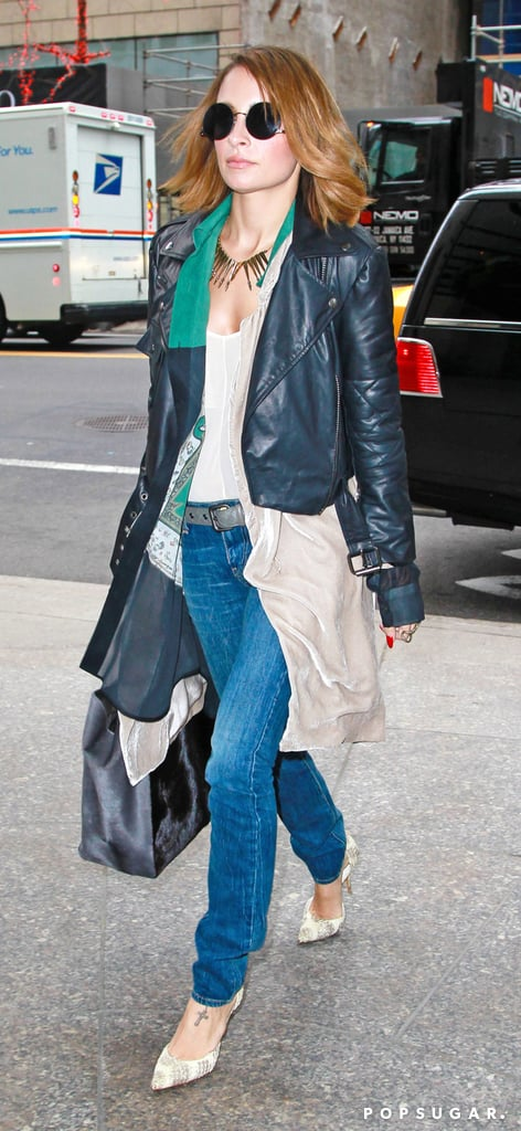 Nicole Richie sported a statement necklace in NYC.