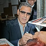 George Clooney appeared on Live With Regis and Kelly.