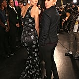 Ellen DeGeneres and Heidi Klum did their best duck faces for the cameras backstage at the People's Choice Awards.