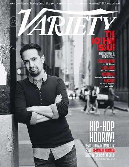Lin-Manuel Miranda covers Variety in his natural habitat of New York
