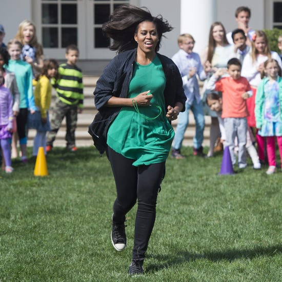 Michelle Obama Wearing Converse Sneakers