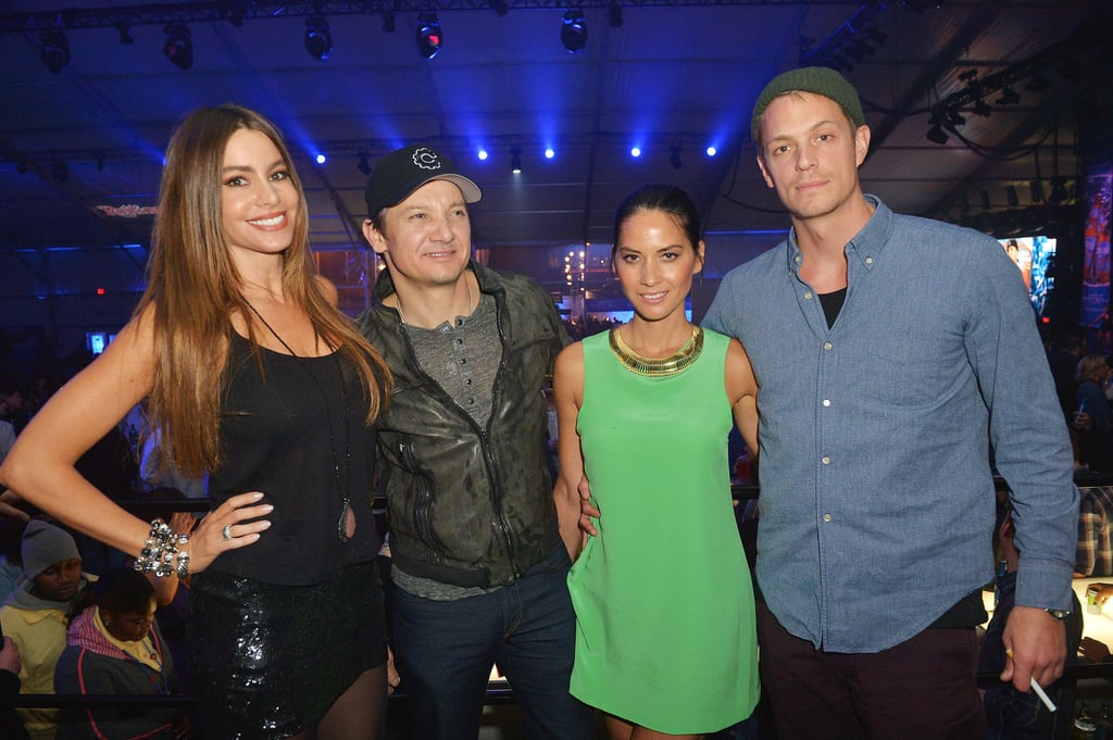 Sofia Vergara, Jeremy Renner, Olivia Munn, and more partied at the Bud Light hotel in New Orleans.