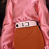 A Belt on the Brandon Maxwell Runway at New York Fashion Week