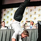 True Blood's Ryan Kwanten showed off his gymnast skills during the show's press panel in 2012.