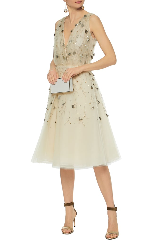 Oscar de la Renta Embellished Silk-Tulle Dress | Jennifer ...