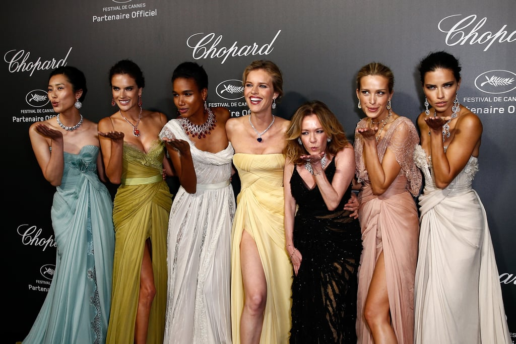 Alessandra Ambrosio and Adriana Lima joined a group of ladies for a special Chopard bash.