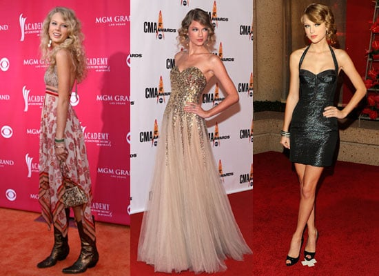 Taylor Swift Style, Fashion, Clothing, Red Carpet Looks Throughout The Years