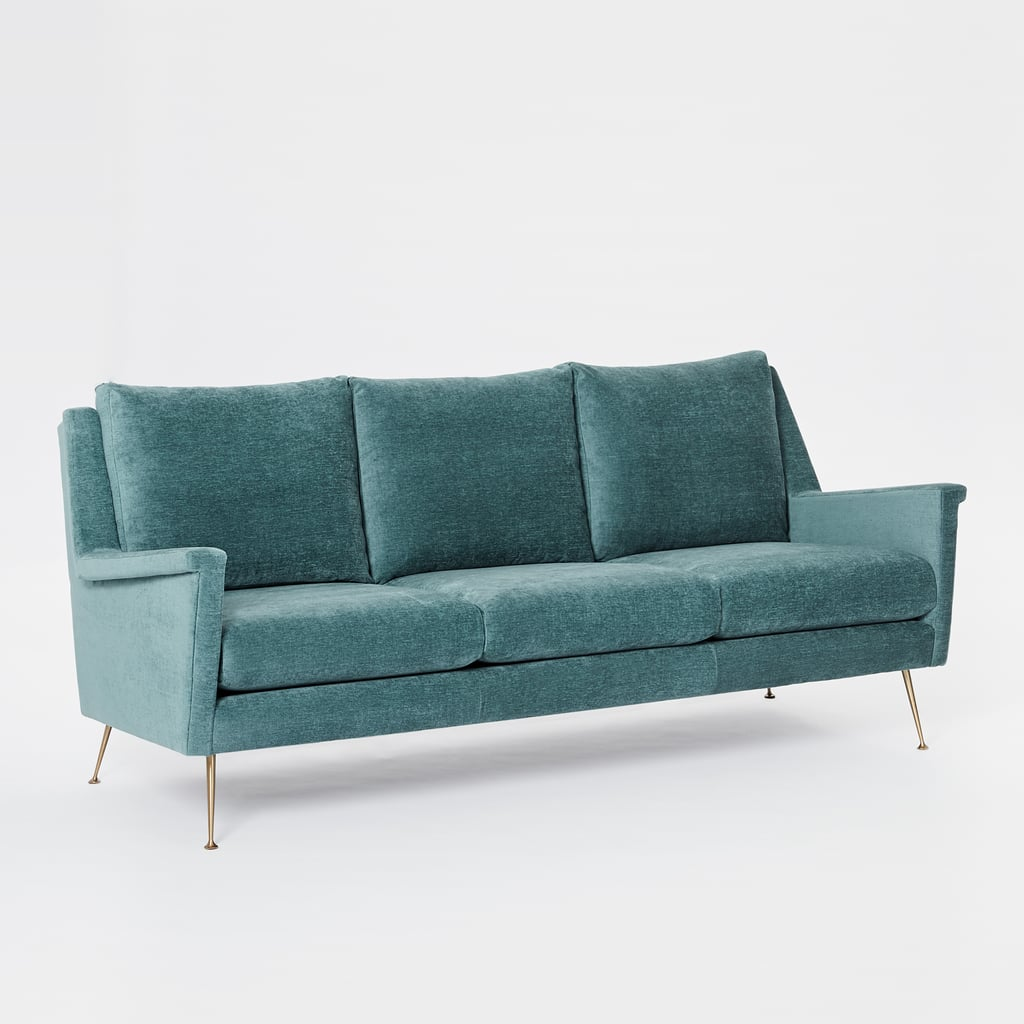 Best velvet lounges and armchairs australia popsugar for Best west elm sofa