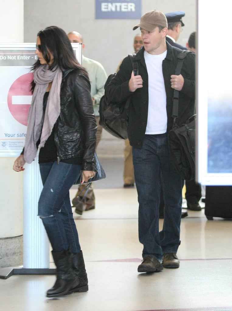 Matt Damon went out of LA's airport.