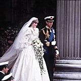 Diana Spencer certainly had her princess moment when she made an entrance in her ornate Elizabeth and David Emanuel ball gown. The design, which had been carefully concealed from the public, became an instant classic when worldwide viewers caught a glimpse in July 1981.