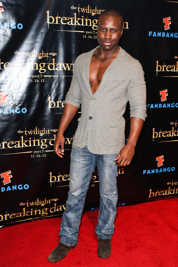 Amadou Ly attended the Breaking Dawn Part 2 party at Comic-Con.