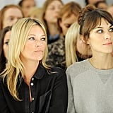 Kate Moss sat next to Alexa Chung at the Mulberry show during London Fashion Week.