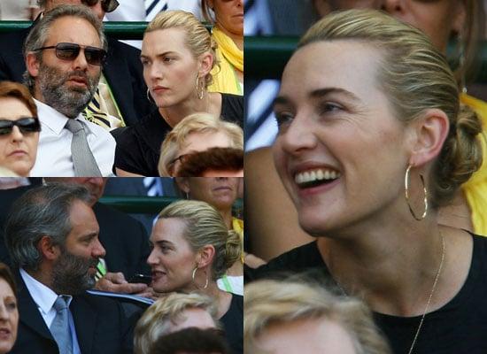 Photos of Kate Winslet and Sam Mendes at Wimbledon