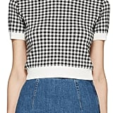 Miu Miu Black and White Gingham Pullover