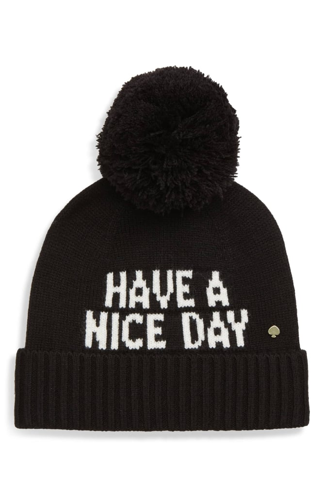 Kate Spade New York Have a Nice Day Beanie