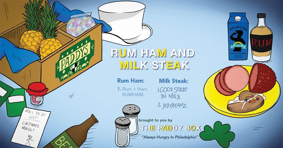 "It's Always Sunny in Philadelphia ""Rum Ham and Milk Steak"""