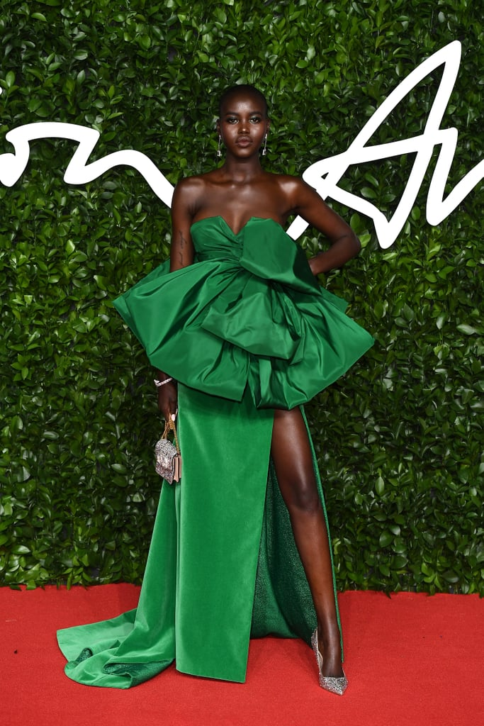 Adut Akech at the British Fashion Awards 2019