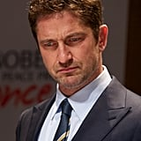 Gerard Butler stepped out in Oslo for a press conference.
