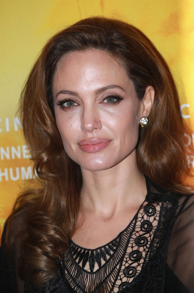 Angelina looked gorgeous close up.