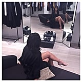 Kim Waited on Kanye While He Was Shopping