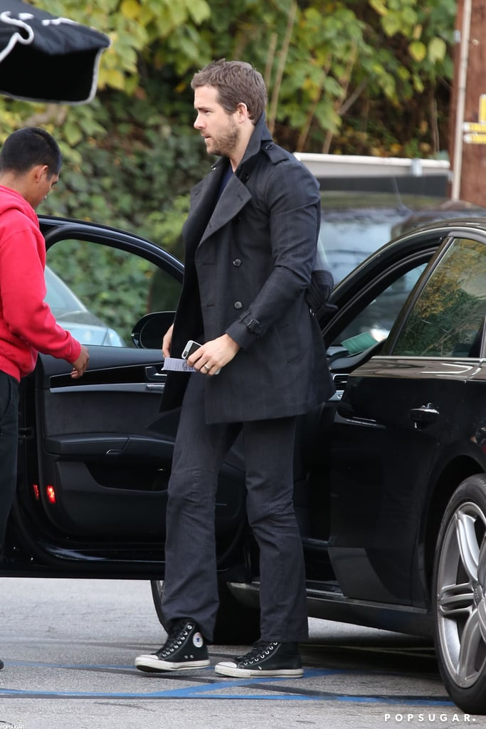 Ryan Reynolds arrived at lunch in LA.