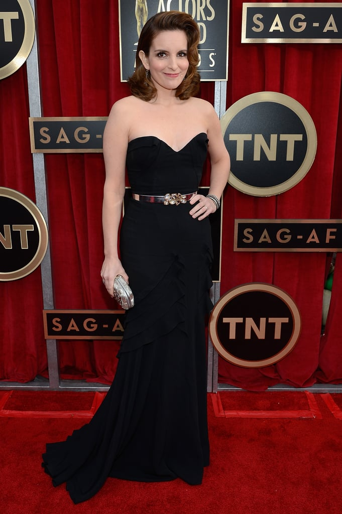 Tina Fey attended the 2013 SAG Awards.