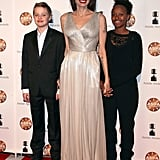 In February 2018, Angelina brought the cutest dates to the Annie Awards: Shiloh and Zahara!