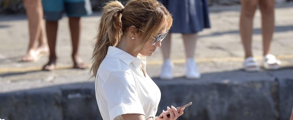 Jennifer Lopez Wears Cult Gaia Cut-Out Dress on Vacation