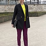 A polished approach to colorblocking.