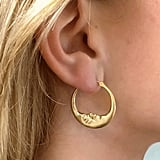 Anthony Lent Medium Crescent Moon Hoop Earrings