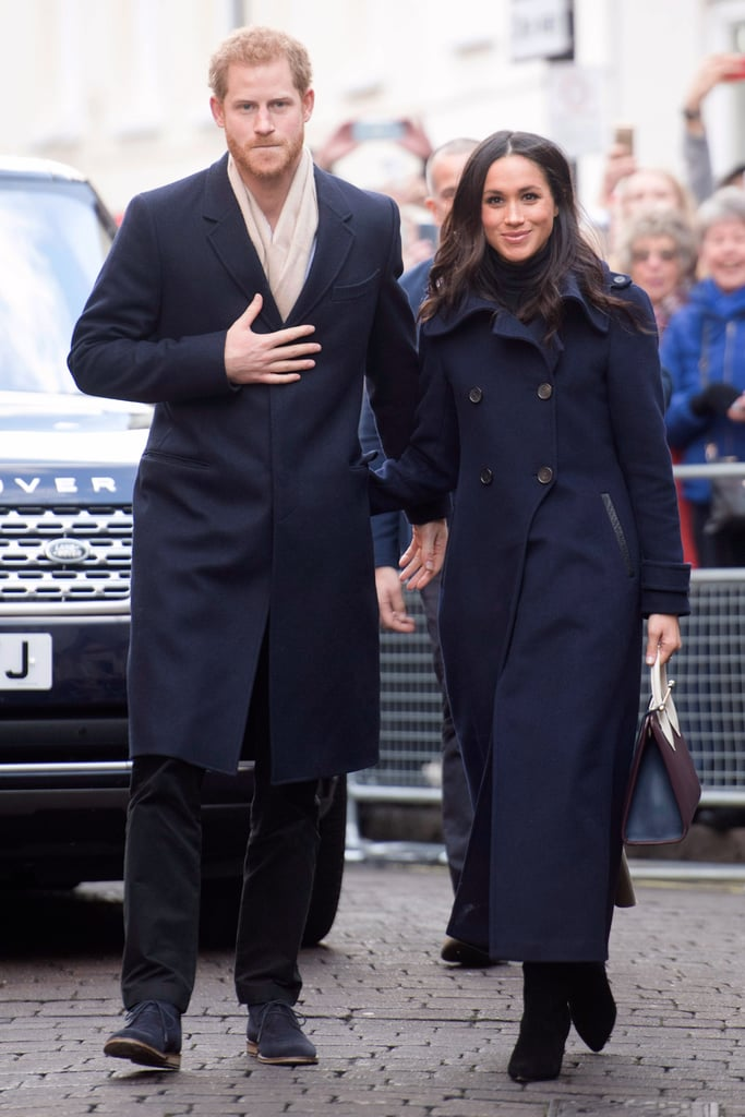 Meghan Markle's Navy Mackage Coat