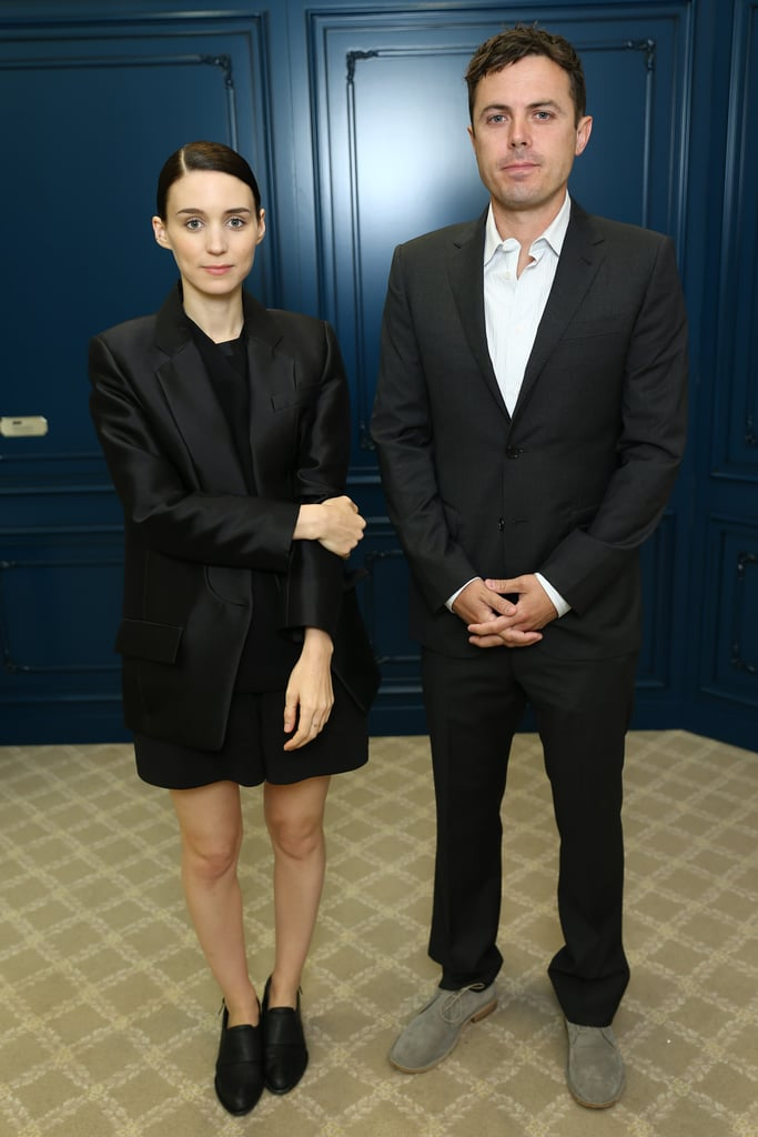 Rooney Mara, alongside Casey Affleck, stopped by the Variety  studio, and for the occasion, she wore head-to-toe black. We love that she wore an oversize Alexander Wang blazer with slick black flats, doubling up on menswear-inspired elements.