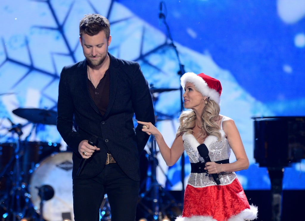 Kristin Chenoweth chatted with Charles Kelley onstage.