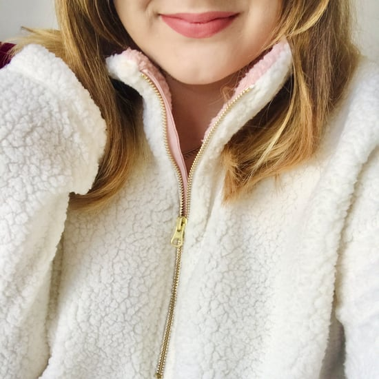 The Coziest Sherpa Pullover Sweatshirt   Editor Review 2020
