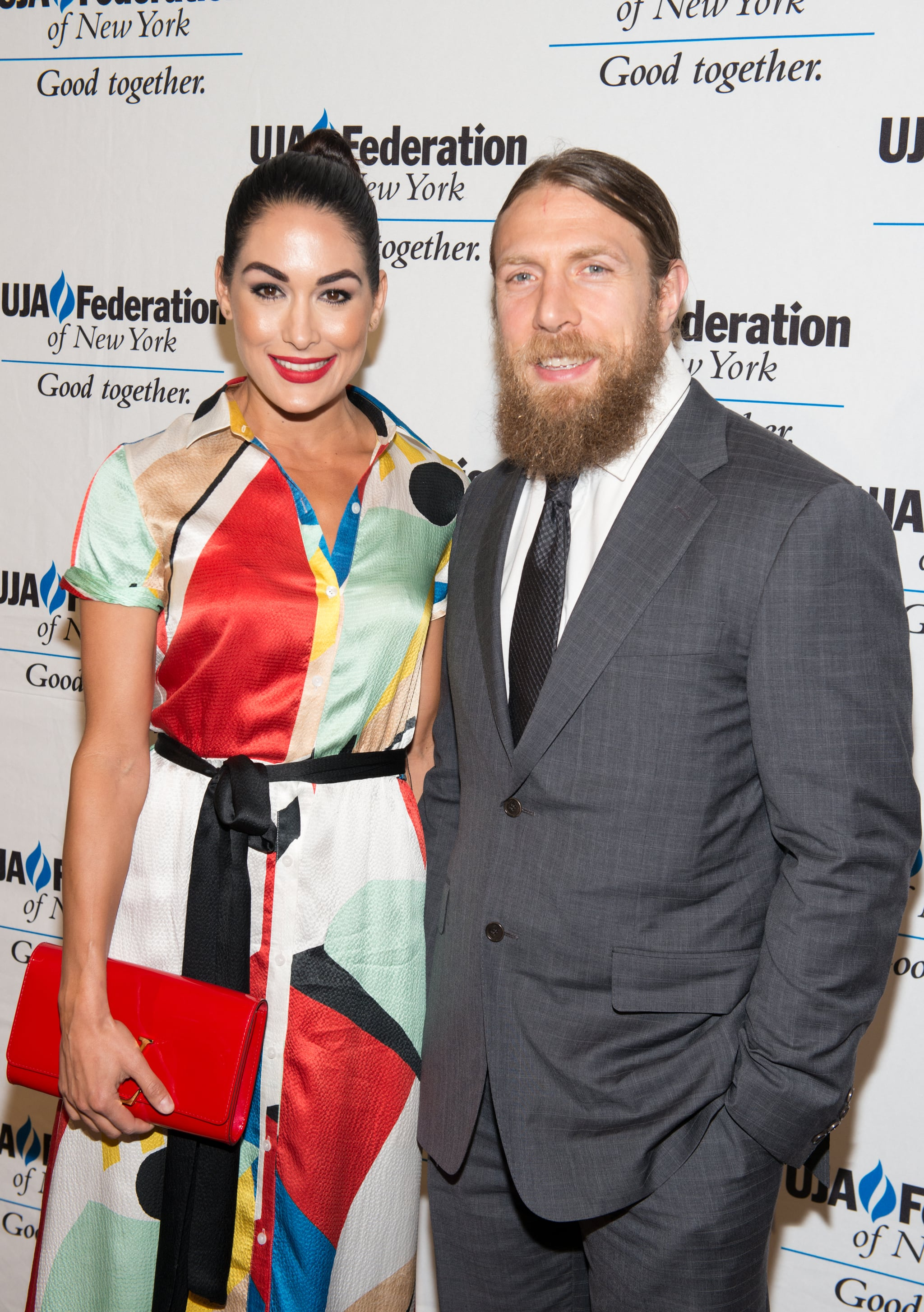 NEW YORK, NY - JUNE 02:  (L-R) Brie Bella and Daniel Bryan attend the UJA-Federation New York's Entertainment Division Signature Gala at 583 Park Avenue on June 2, 2015 in New York City.  (Photo by Noam Galai/WireImage)