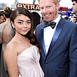 Modern Family's Sarah Hyland and Jesse Tyler Ferguson smiled for a photo.