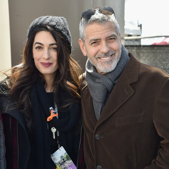 Amal Clooney Wearing Plaid Jacket