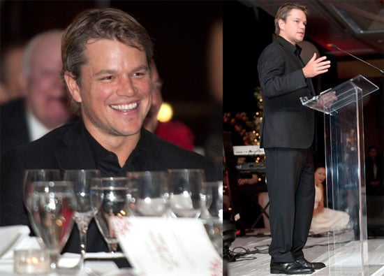 Pictures of Matt Damon Accepting an Award From Save the Children