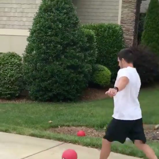 Video of Graham Gano Playing Kickball With His Family