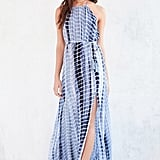 Ecote Tie-Dye High-Neck Halter Maxi Dress ($98)