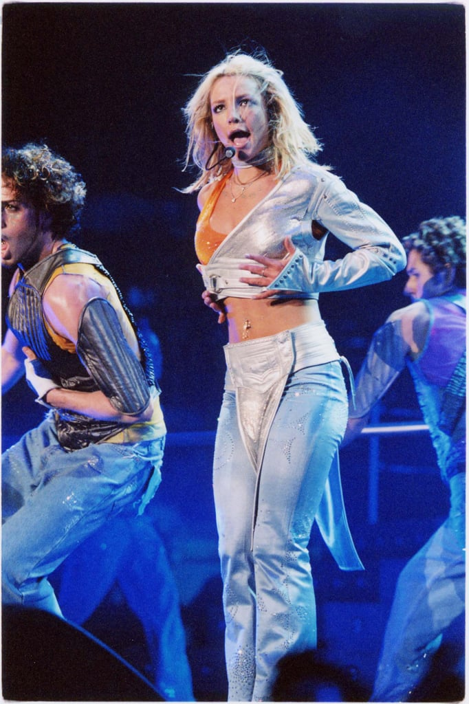 Britney Spears sang her heart out at a July 2000 concert in LA.