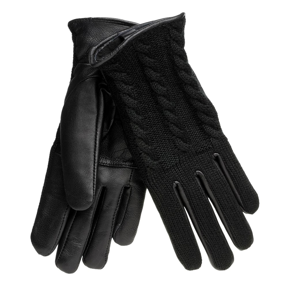 Leather gloves are a must have for cold weather, and luckily, this pair of Auclair Gloves ($16) also infuses toasty cable-knit.