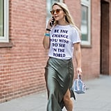Rock a Statement Tee With a Skirt