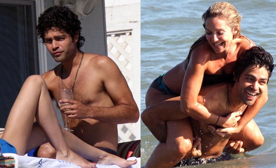 Photos of Adrian Grenier at the Beach in Malibu