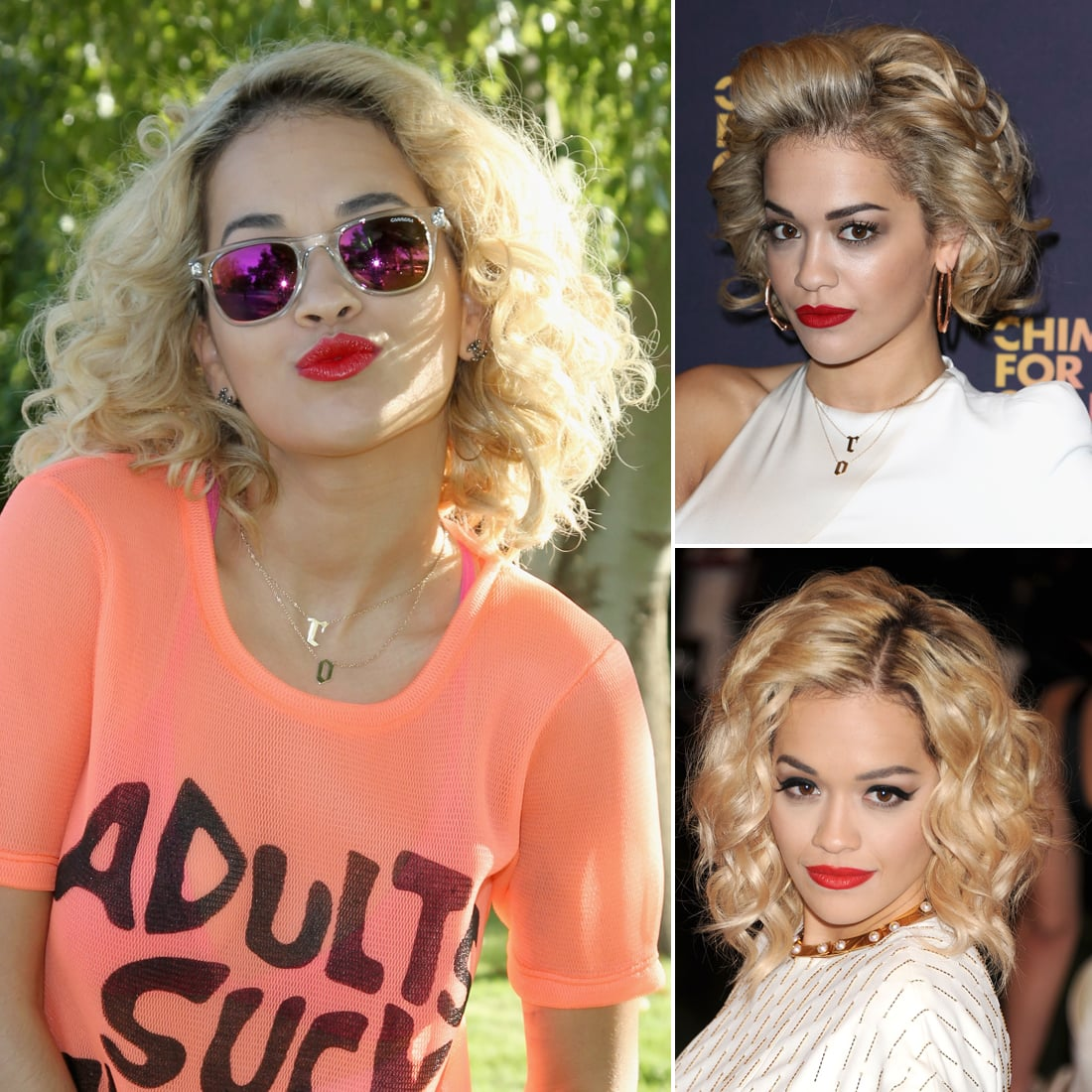 Who: Rita Ora The look: Red lipstick Rita is a girl who loves her red lipstick. While she never discriminates when it comes to shade or matte vs. glossy, Rita almost always pairs her crimson pucker with a bold brow.