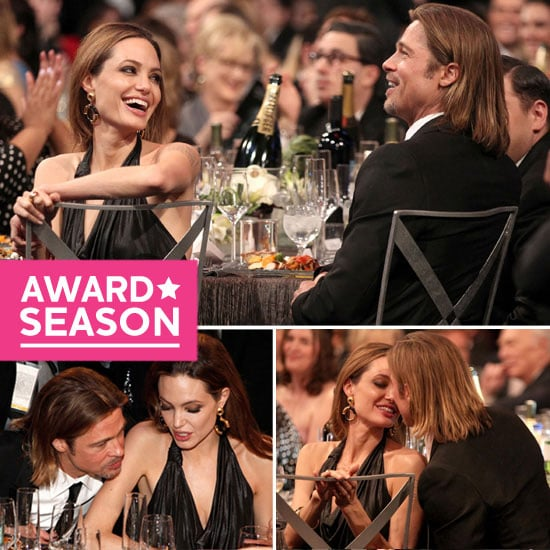 Brad Pitt and Angelina Jolie PDA Pictures SAG Awards