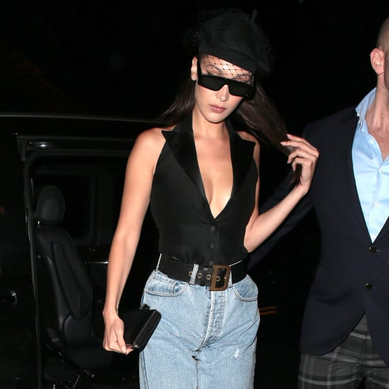 Bella Hadid Swaps Skirt For Jeans
