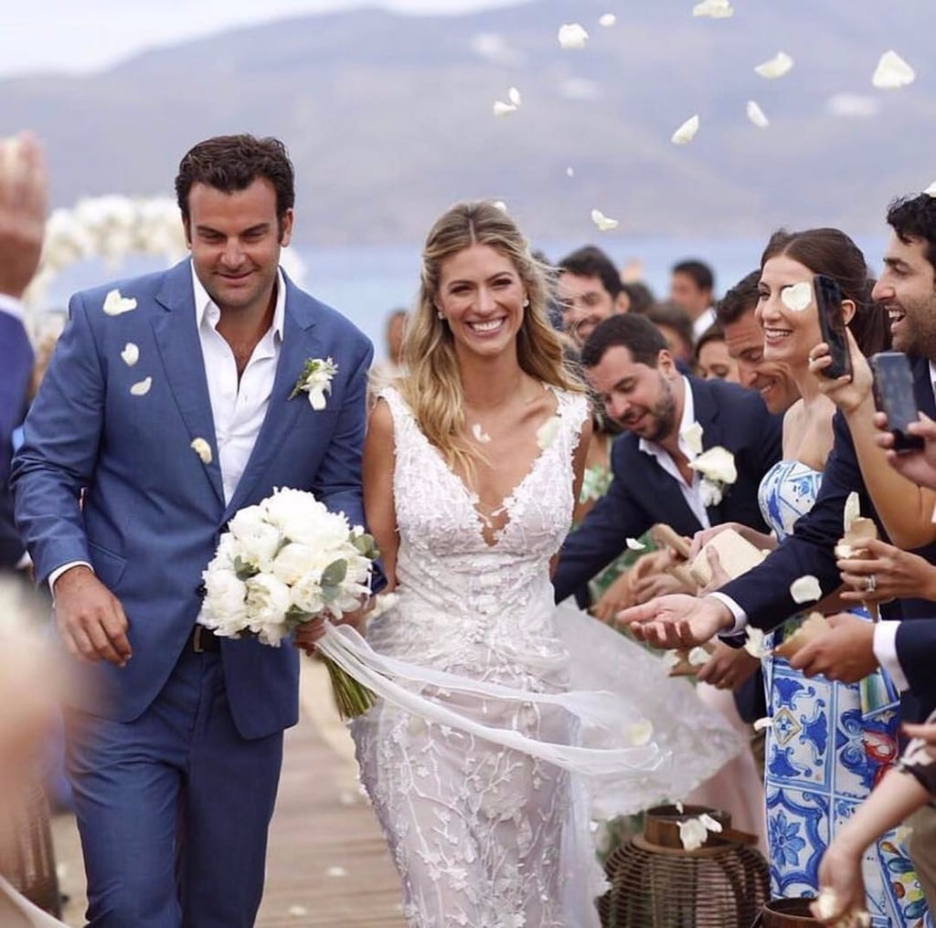 This Greek Bride's Gorgeous Sheer Dress Just Might Outshine the Picturesque Background